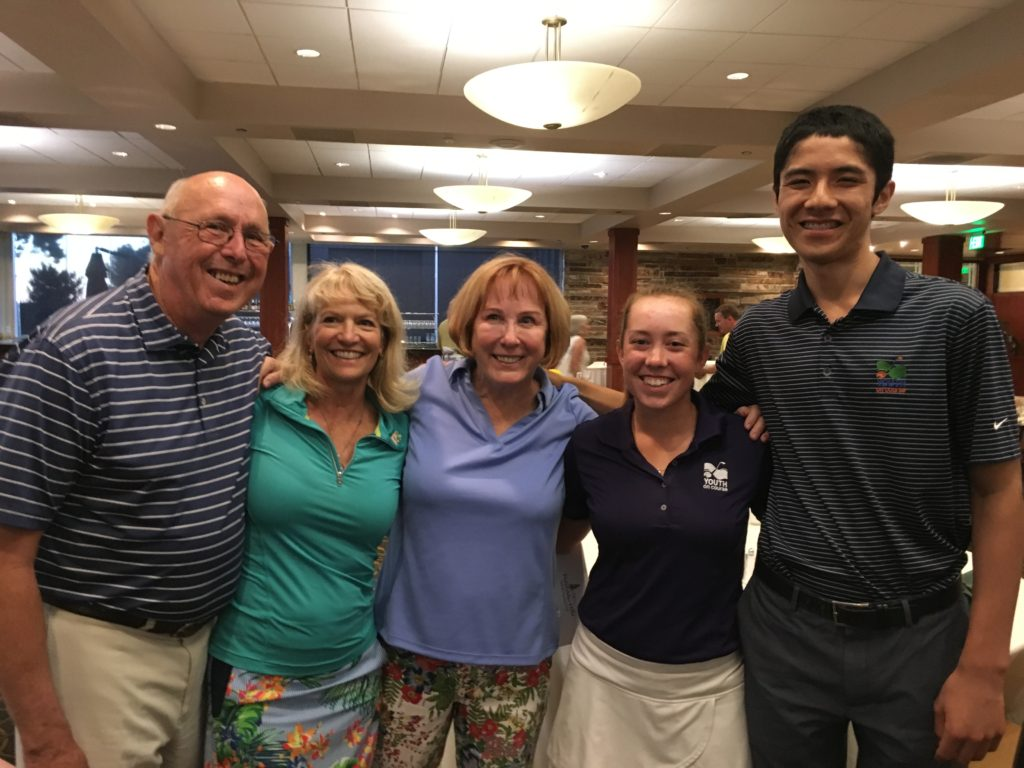Clare Brady and Sandip Nirmel with Sue Rose, John Dodsworth and a member of Palo Alto Hills Golf and Country Club